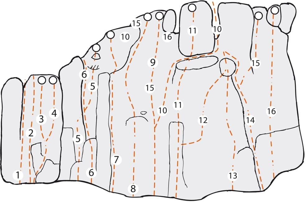 Klettern im Altmühltal Topo zum Kletterfels Felskirchl rechts