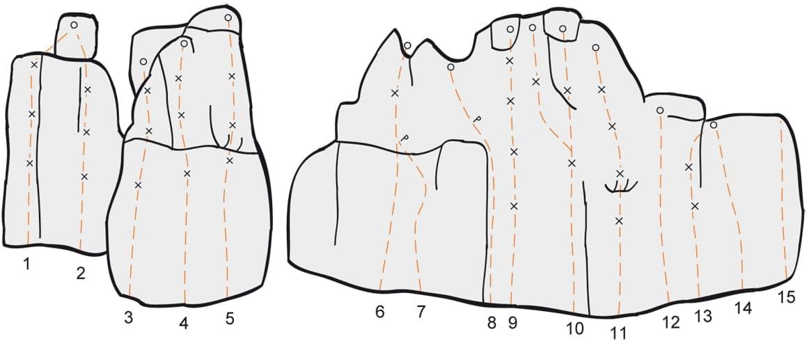 Klettern im Konstein Topo zum Kletterfels Hexenkessel