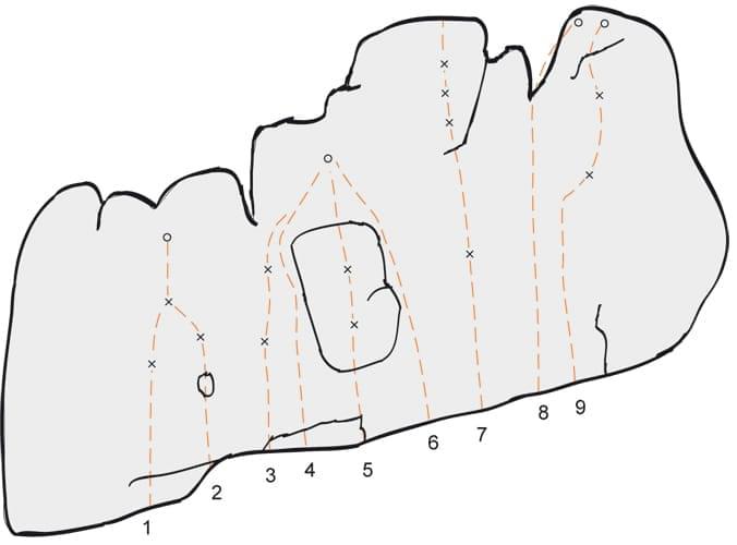 Klettern im Konstein Topo zum Kletterfels Leinwandl