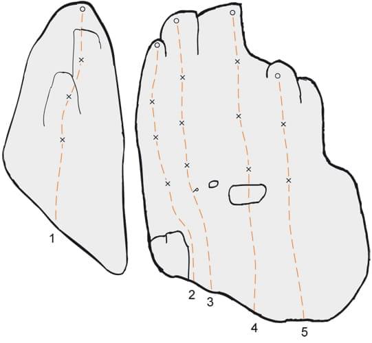 Klettern im Konstein Topo zum Kletterfels Pinwandl